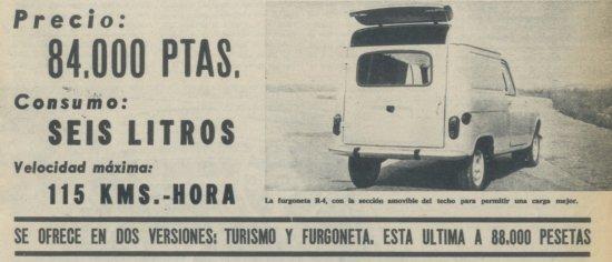 Resultado de imagen de renault 4f 1964 españa